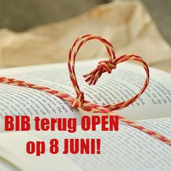 DE BIB TERUG OPEN!